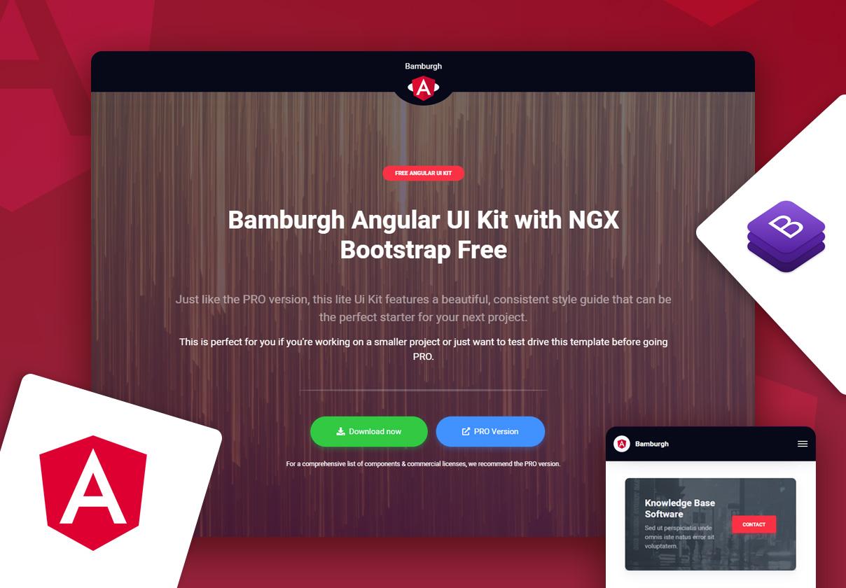 Bamburgh Angular UI Kit with NGX Bootstrap Free