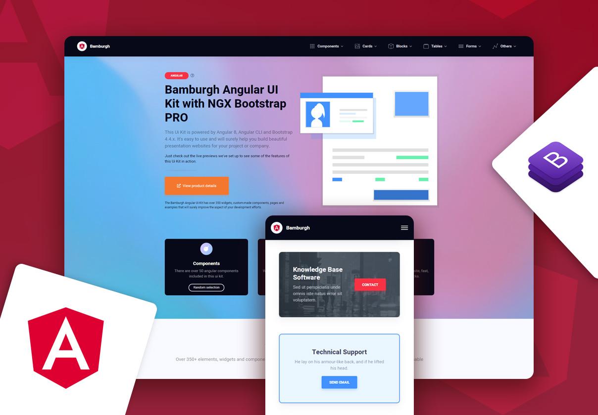 Bamburgh Angular UI Kit with NGX Bootstrap PRO