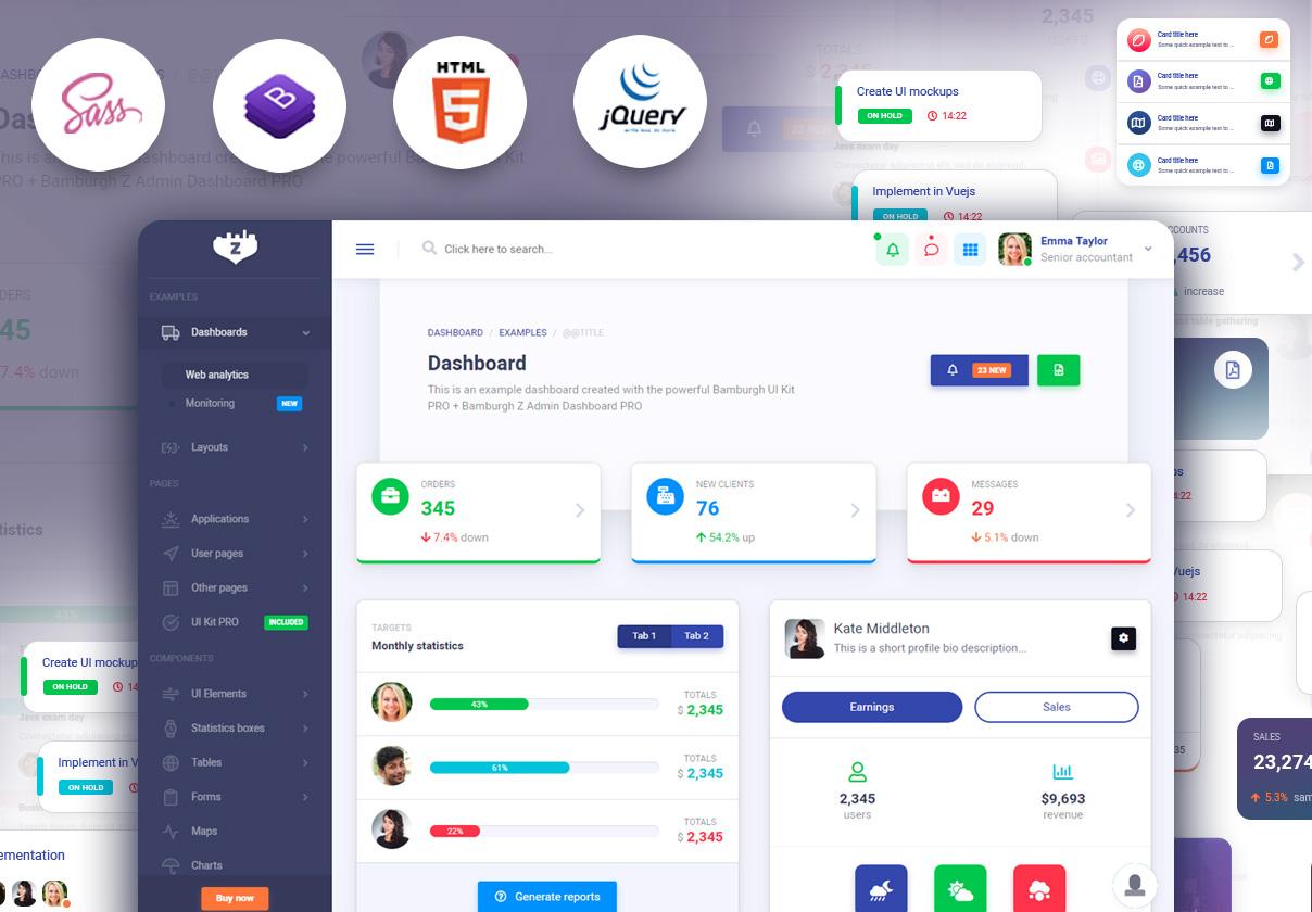 Bamburgh HTML5 Admin Dashboard with Bootstrap PRO