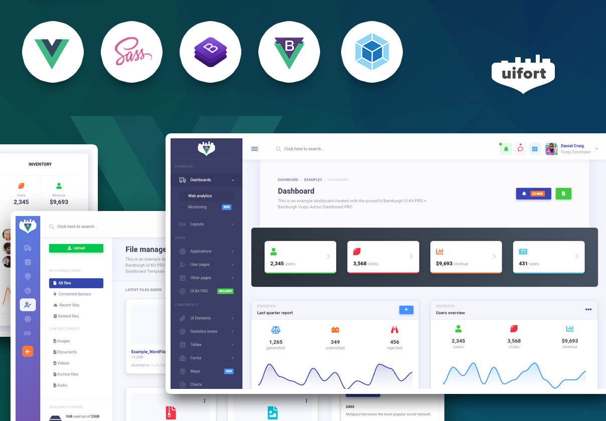 Bamburgh Vue Admin Dashboard with BootstrapVue PRO