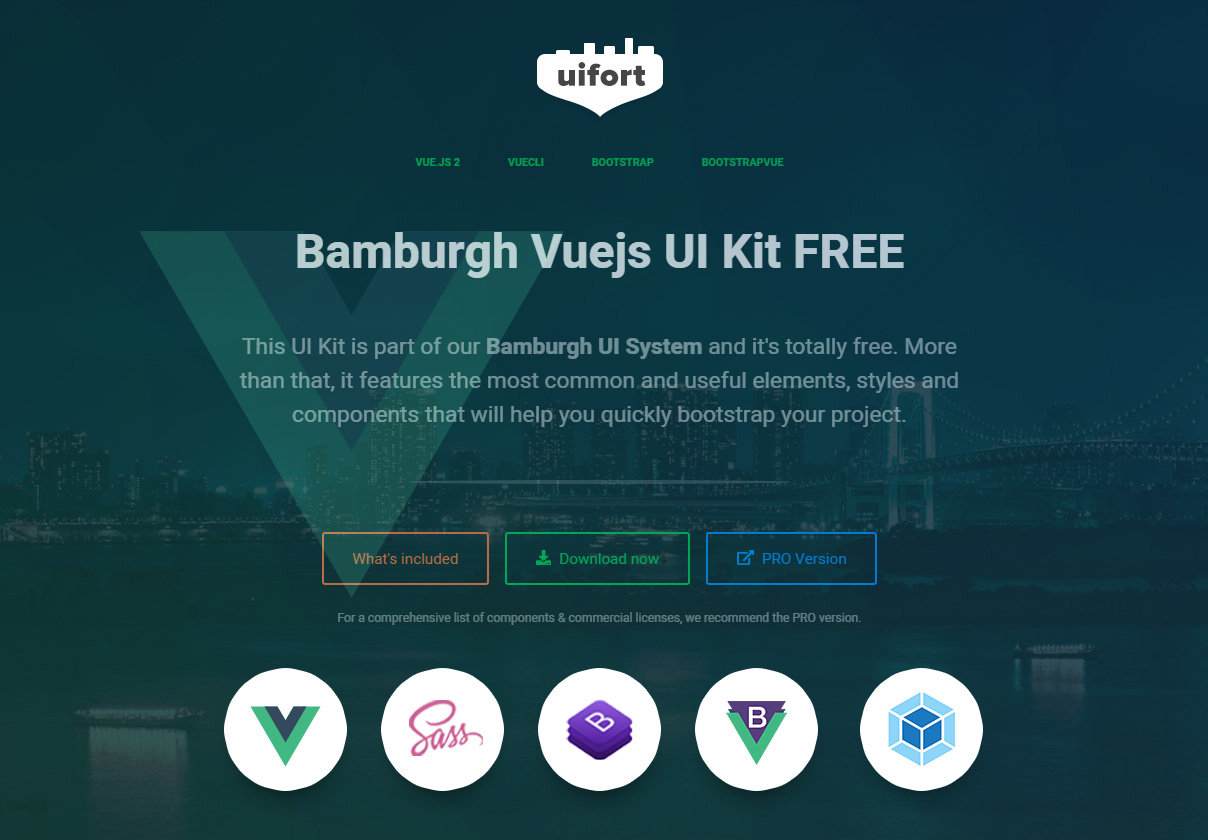 Bamburgh Vue UI Kit with BootstrapVue Free
