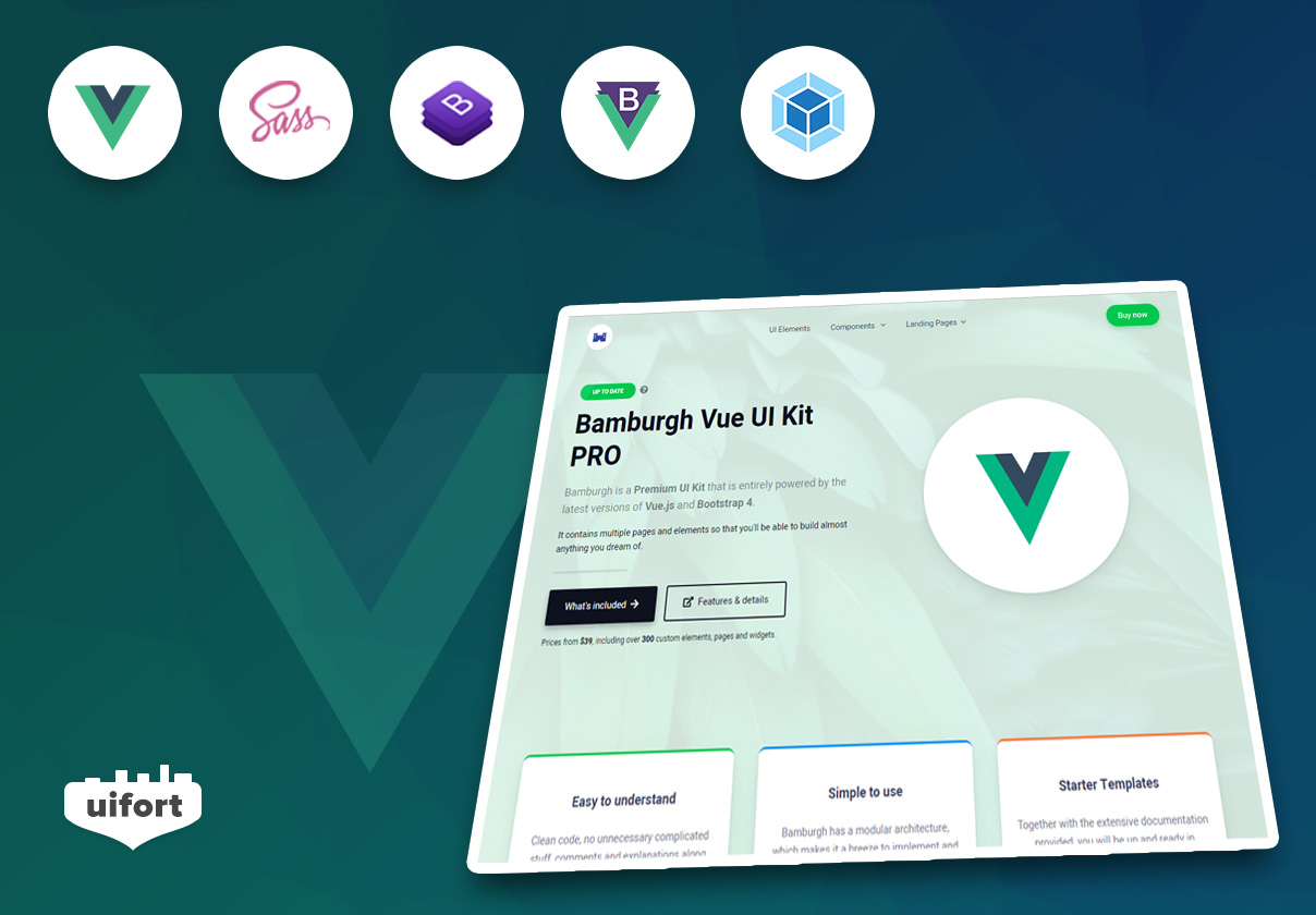 Bamburgh Vue UI Kit with BootstrapVue PRO