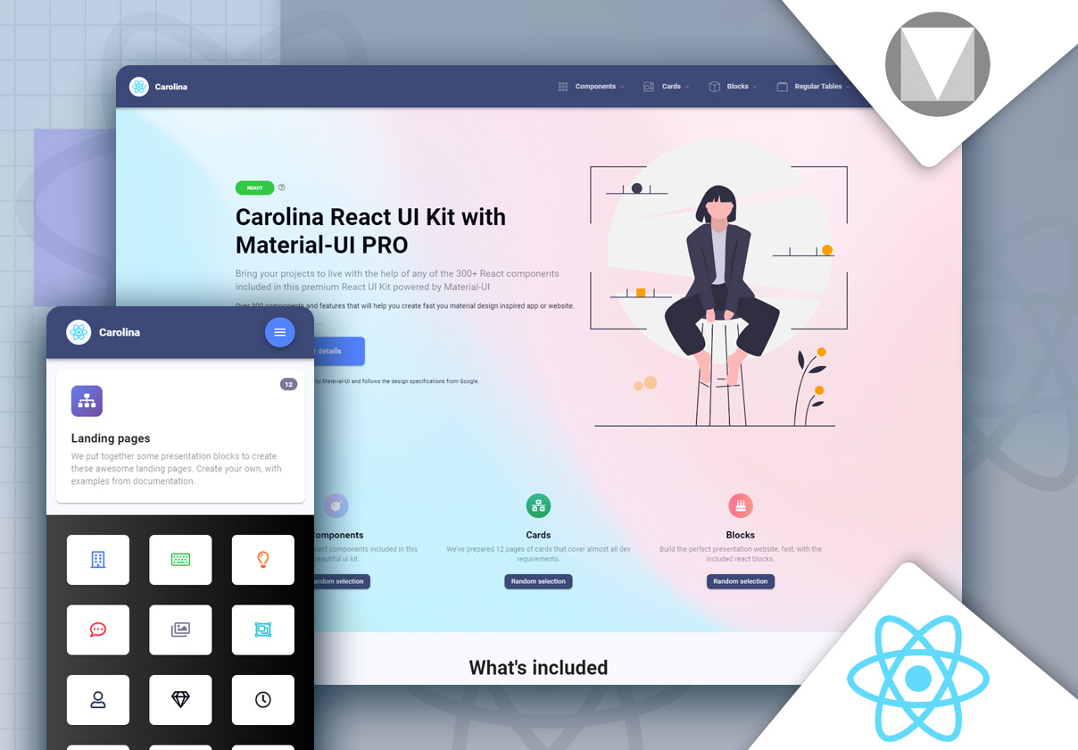 Carolina React UI Kit with Material-UI PRO